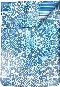 Lex Altern Laptop Sleeve Case for MacBook Air 13 Mac Pro 16 15 Retina HP Dell ASUS Acer Lenovo 11 12 14 17 inch 2020 Blue Mandala Nature Sky Boho Acrylic Paint Tribal Protective Slim Women Leather