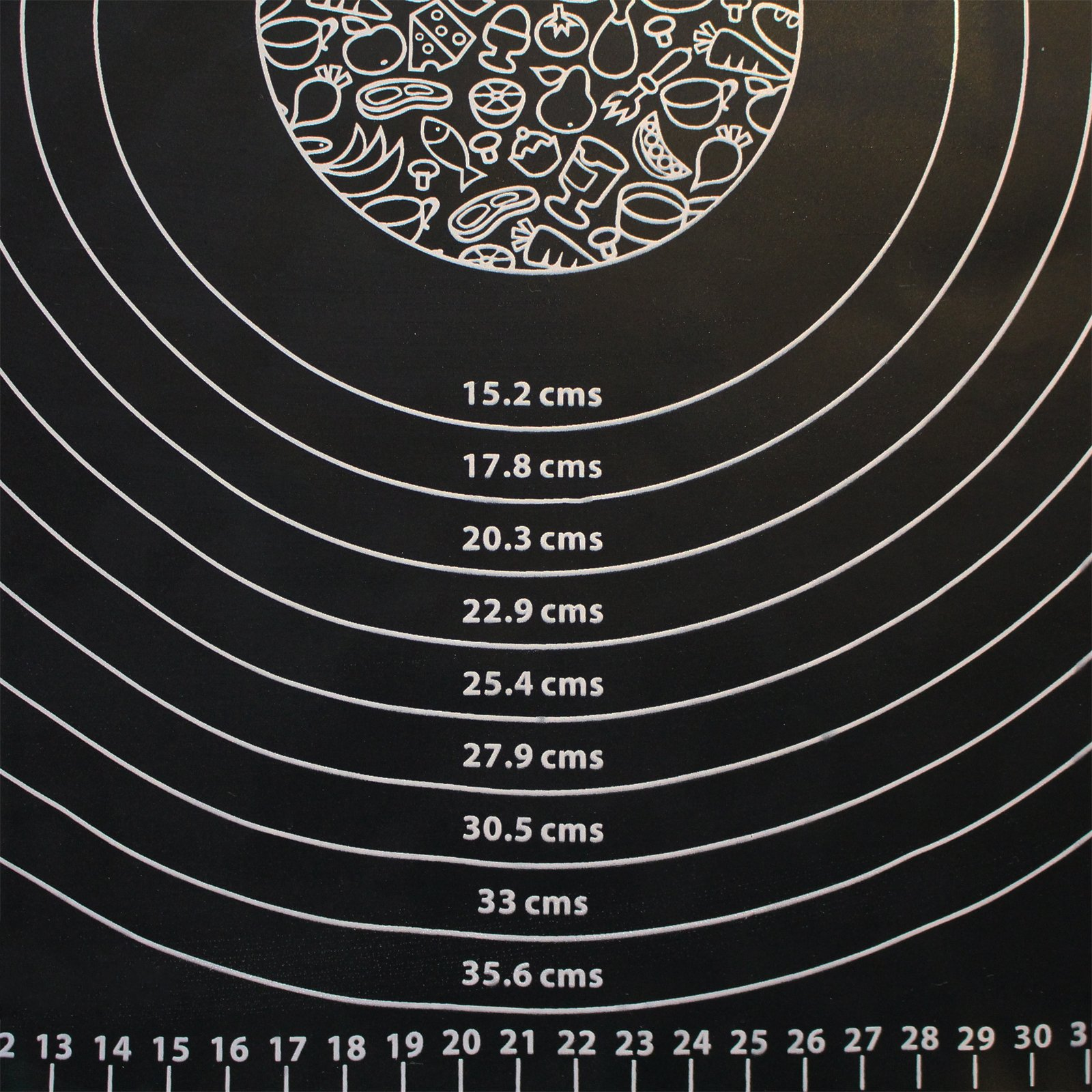 Kurtzy Silicone Rolling Mat - (50 x 40cm) Non Stick Pastry Mat with Measuring Guide - No Slip Fondant Mat for Cake Decorating - Baking Mat - Kneading Mat - Cookie Dough Mat - Dishwasher Safe by Kurtzy (Image #3)
