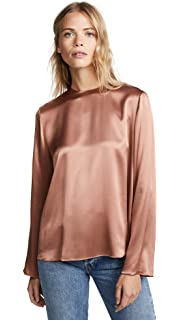 86fc67c0035842 Amazon.com  Vince Women s Shirred Neck Pullover  Clothing
