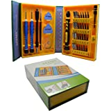 ACENIX® 38pièces Tournevis de précision Set kit d'outils de réparation professionnel pour réparation iPhone, téléphones Android, tablettes, ordinateurs, électronique, ET Plus