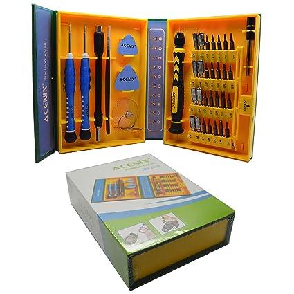 ACENIX Juego de reparación universal 38 unidades Professional Juego de destornilladores de precisión Repair Tool Kit