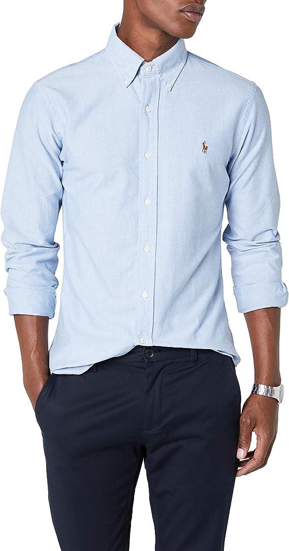 Ralph Lauren Slim Fit BD Ppc Camisa de Vestir para Hombre: Amazon.es: Ropa y accesorios