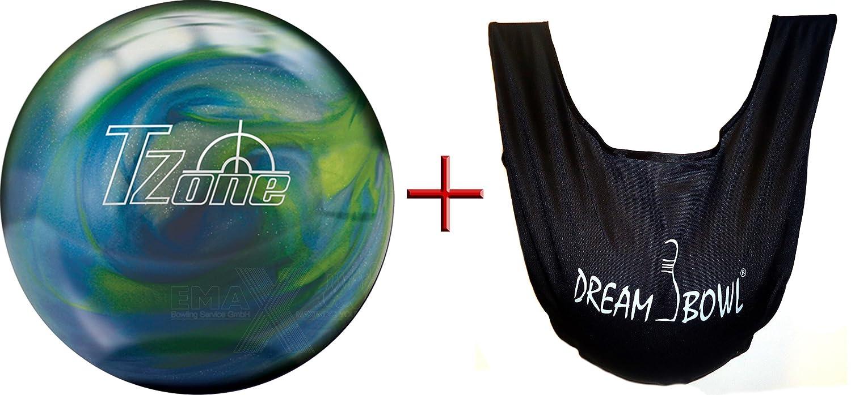 Bola de bowling - principiantes y Räumball T-Zone Blue Lagoon 2.72 kg hasta 6.8 kg + See Saw bolsa para limpiar