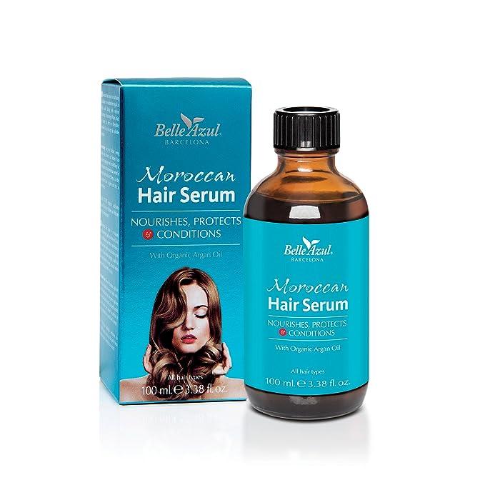 147 opinioni per Belle AzulMoroccan Hair Serum –Siero per Capelli con Olio di Argan biologico,