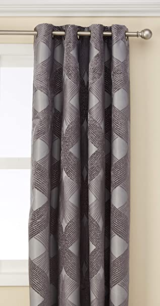 Blackout Curtains For Bedroom , Modern Contemporary Grommet Charcoal Window  Curtains For Living Room Family Room , Sidro Solid Modern Black Out Window  ...