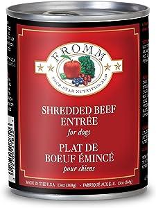 Fromm Four-Star Shredded Beef Entrée Canned Dog Food 13oz