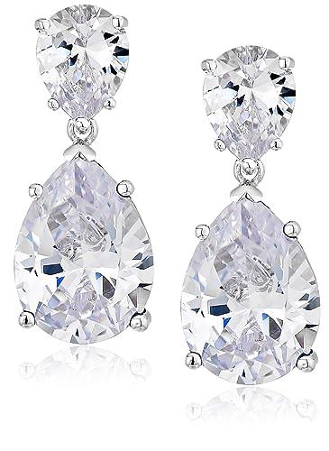 5829c71a5f4a0 CZ by Kenneth Jay Lane Cubic Zirconia Double Pear Drop Earrings