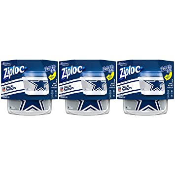 3fae500aa59 Amazon.com: Ziploc Brand NFL Dallas Cowboys Twist 'n Loc Containers ...