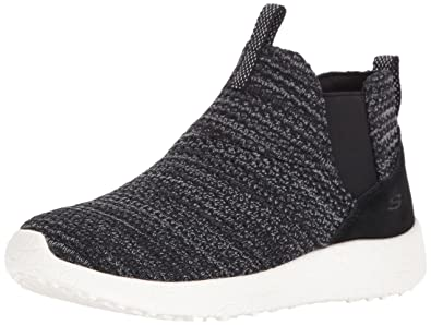Skechers Sport Women's Burst Fresh Thinking Fashion Sneaker,Black/White,8.5  ...