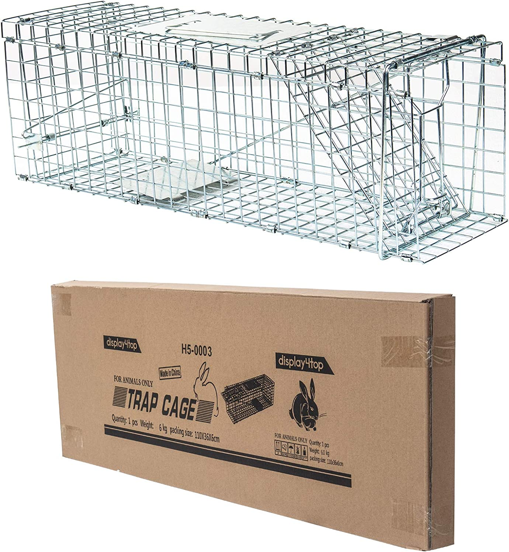D4P Display4top Animal Trap Cage Trampa de Captura de Animales Vivos, Gatos, Perros, Conejos, roedores