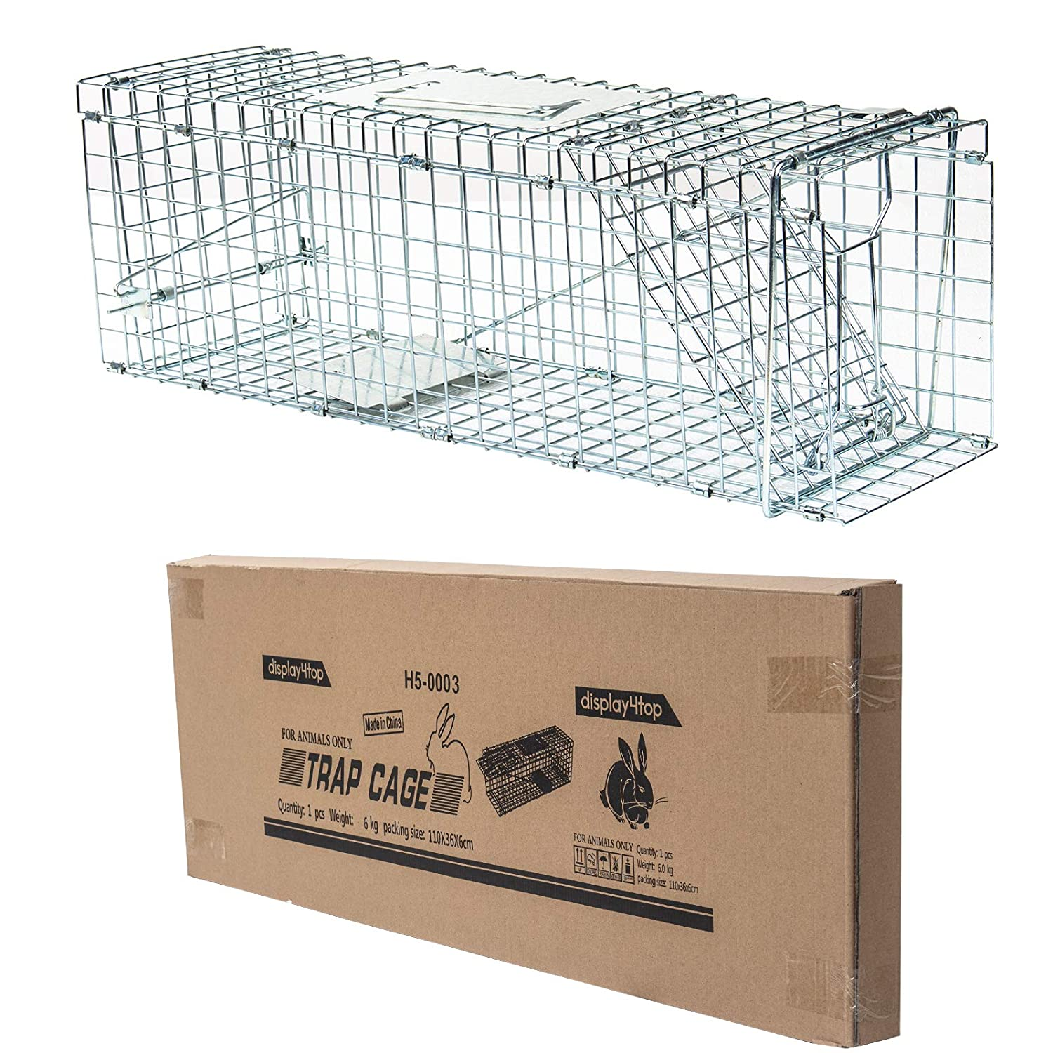 D4P Display4top Animal Trap Cage Trampa de Captura de Animales ...