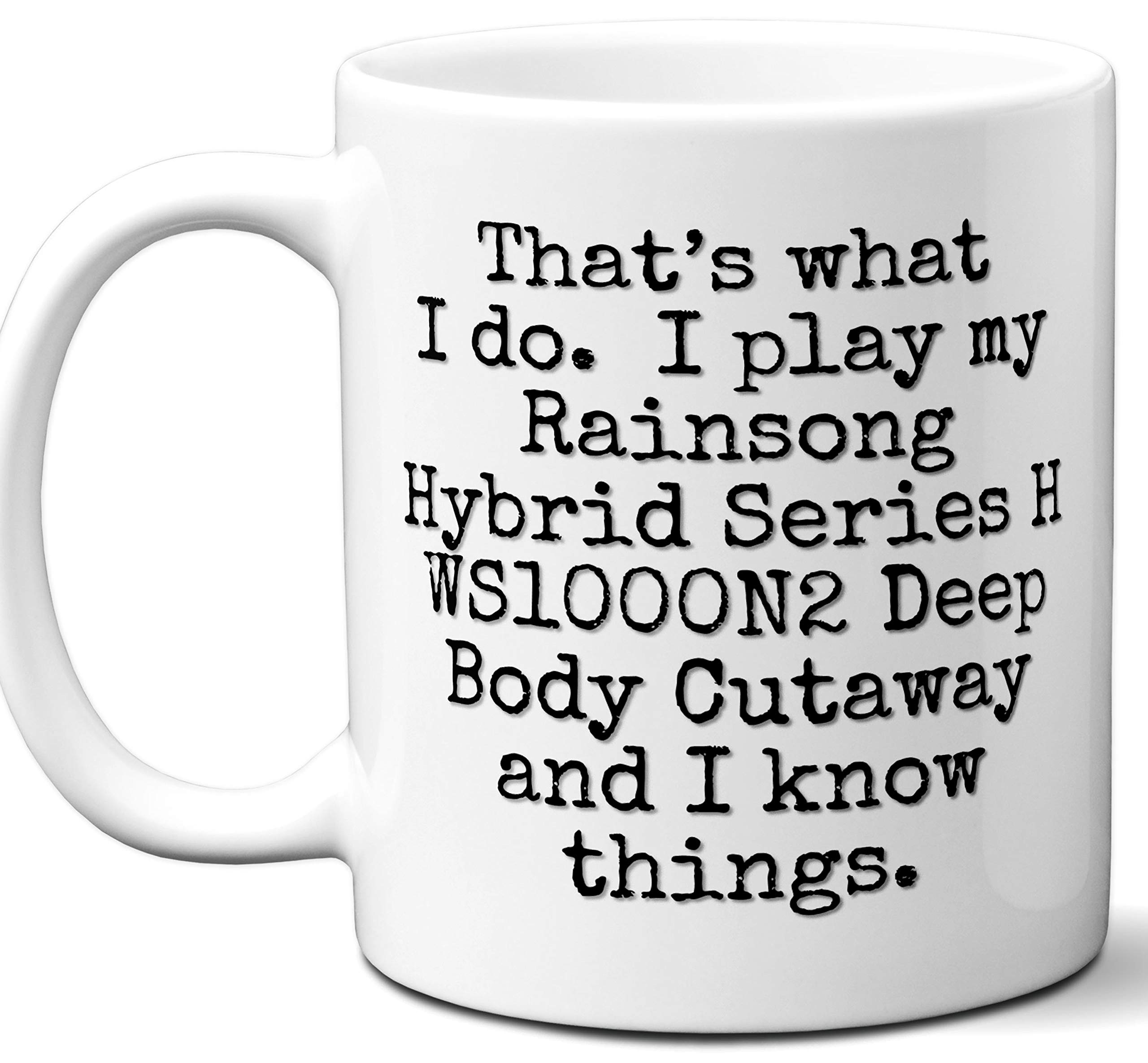 Guitar Gifts Mug. Rainsong Hybrid Series H WS1000N2 Deep Body Cutaway Guitar Players Lover Accessories Music Teacher Lover Him Her Funny Dad Men Women Card Pick Musician Acoustic Unique by Ombura
