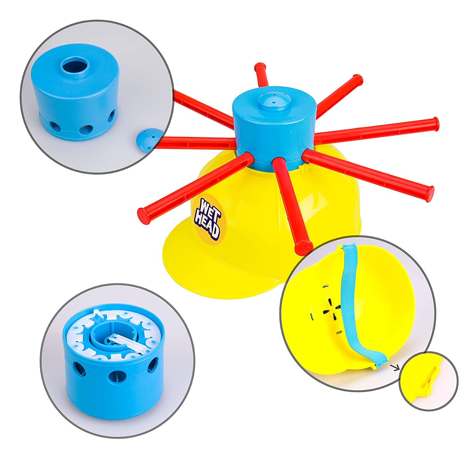 Wet Head Game Gvoo Funny Wet Hat Water Challenge Roulette Game Prank Game Toys for Family Christmas Gift and Outdoor Activity Halloween Party Holiday