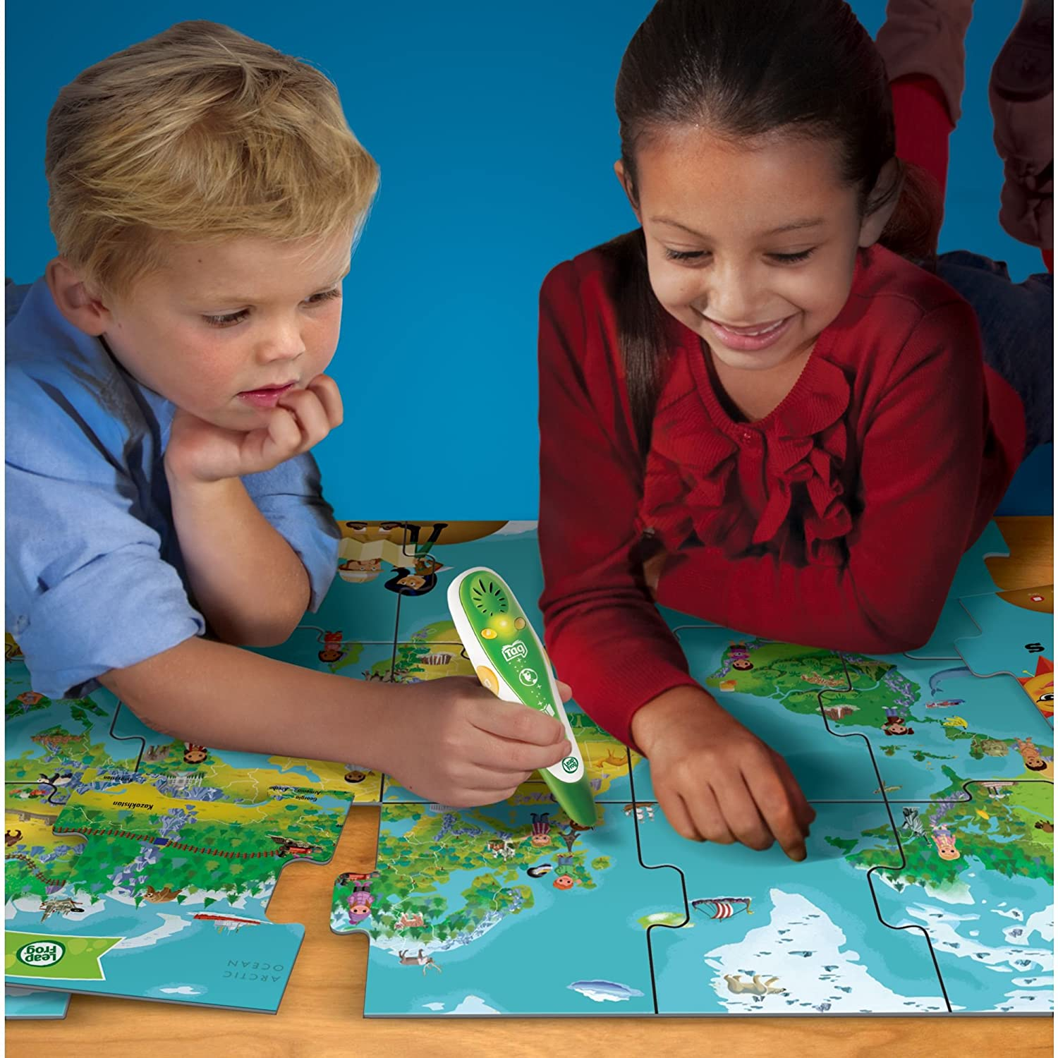 Amazon leapfrog leapreader interactive world map puzzle amazon leapfrog leapreader interactive world map puzzle works with tag toys games gumiabroncs Gallery