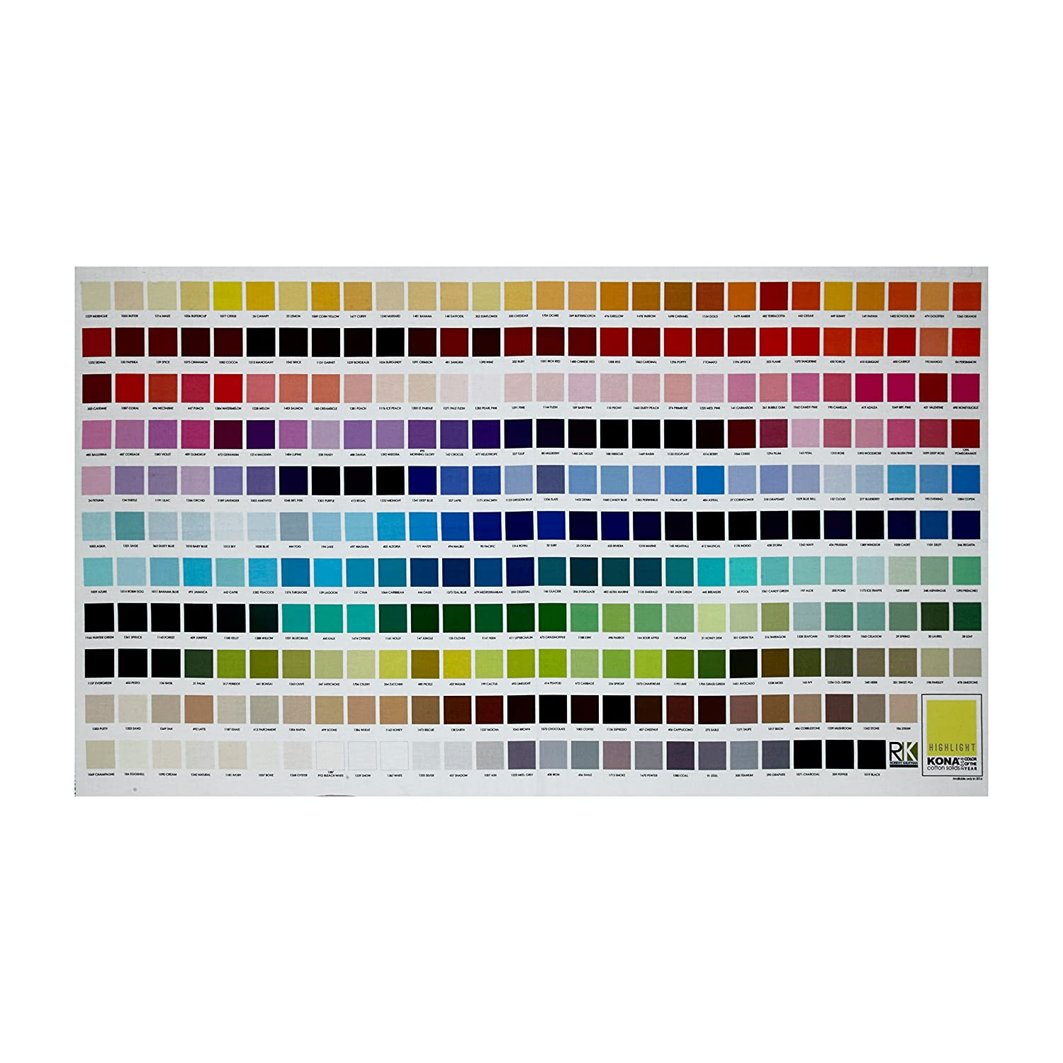 Amazon kaufman kona digital printed 24in color chart panel amazon kaufman kona digital printed 24in color chart panel multi fabric nvjuhfo Images