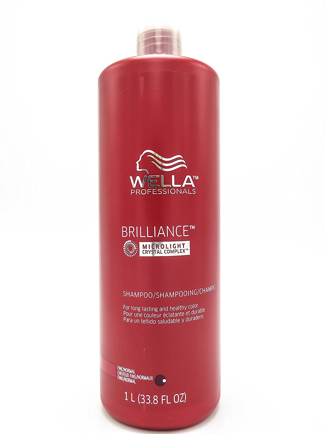 Wella Brilliance Shampoo for Fine To Normal Colored Hair for Unisex, 33.8 Ounce 070018008749