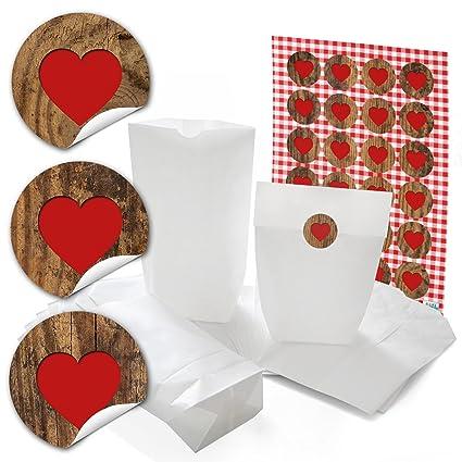 24 pequeñas bolsas de papel Bolsas papel kraft con suelo (16 ...
