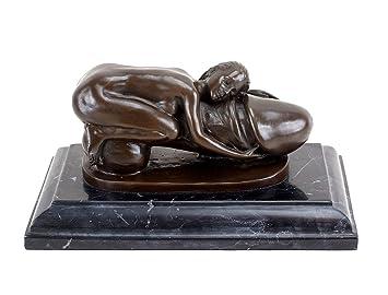 Antiquitäten & Kunst Antike Originale Vor 1945 Bronze Skulptur Sammlerstück Statue Erotik Nackte Sexy Girl Bronze Skulptur
