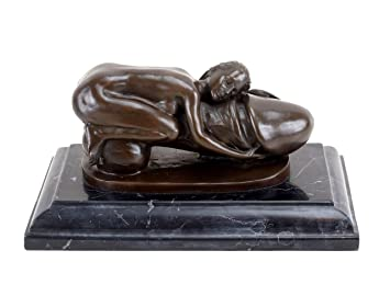 Antiquitäten & Kunst Bronze Skulptur Sammlerstück Statue Erotik Nackte Sexy Girl Bronze Skulptur