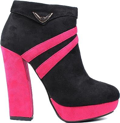 "Fuchsia Ankle Boot Pump Prom Stilettos Platform Womens 5/"" Heel Shoes Sz 7.5"