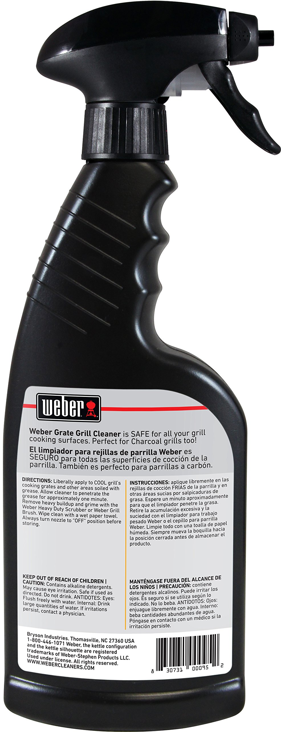 Grill Cleaner Spray - Professional Strength Degreaser - Non Toxic 16 oz Cleanser By Weber Cleaners by Weber