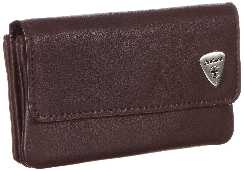 Strellson Harrison KeyCase F 4010001049 Herren Schlüsselmäppchen 12x8x1 cm (B x H x T), Braun (dark brown 702)