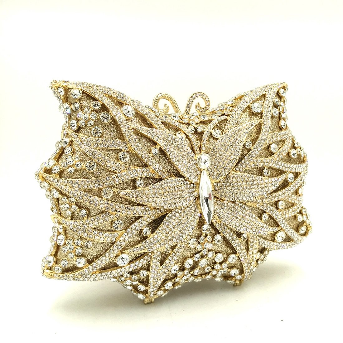 IBELLA Women Luxury Crystal Clutches Butterfly Clutch Evening Bag for Ladies