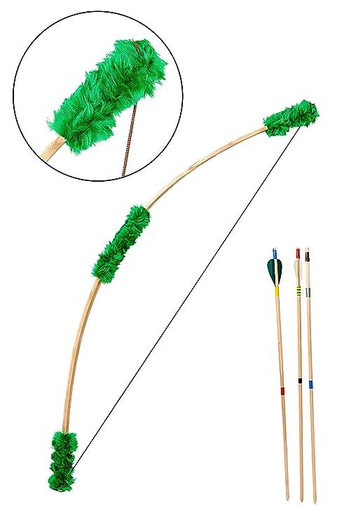 1e3356911 Master Of Fun Excelente de madera juego de arco + 3 flechas niños Kids  Adulto hecho