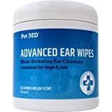 Pet MD Cat and Dog Ear Cleaner Wipes - Advanced Otic Veterinary Ear Cleaner Formula - Dog Ear Infection Treatment Helps Allev