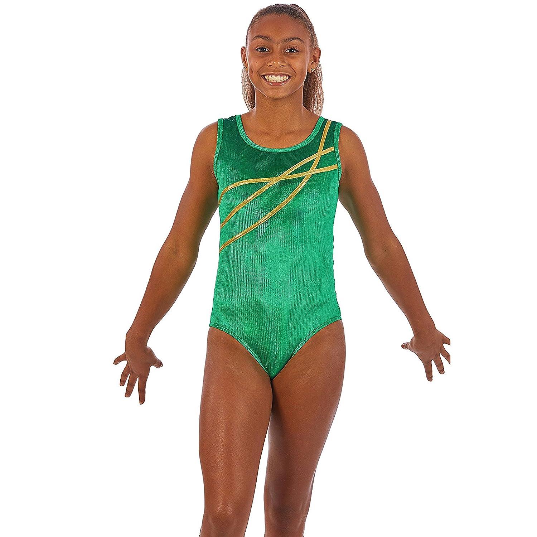 Gymnast /& Dancewear Leo in Girls /& Womens Sizes Lizatards Ribbon Accent Gymnastics Leotard