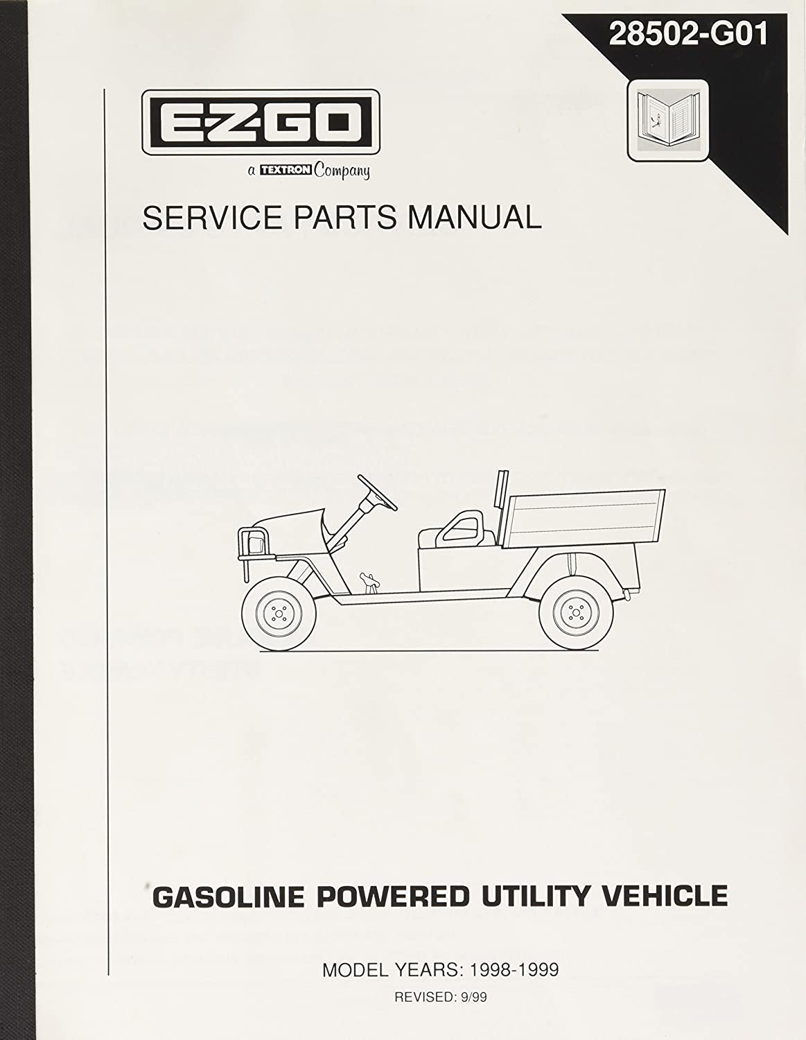 Amazon.com : EZGO 28502G01 1998-1999 Service Parts Manual for Gas ST350  Workhorse : Outdoor Decorative Fences : Garden & Outdoor