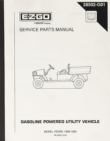 ez go rxv golf cart service parts manual
