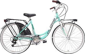 CINZIA Liberty 6V Bicicleta de Paseo, Adultos Unisex, Verde, M ...