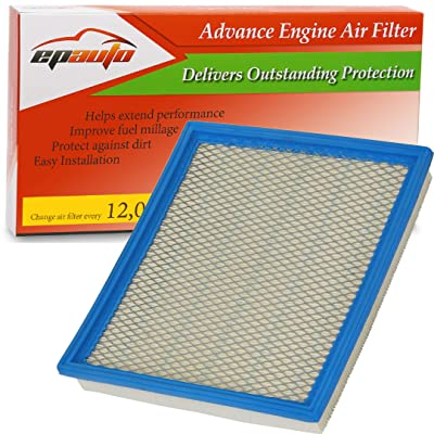 EPAuto GP440 (CA7440) Replacement for Infiniti/Nissan/Suzuki/Jeep Extra Guard Panel Air Filter for QX56 (2004-2010), Armada (2005-2015), Frontier V6 (2005-2020), NV1500 (2012-2020): Automotive