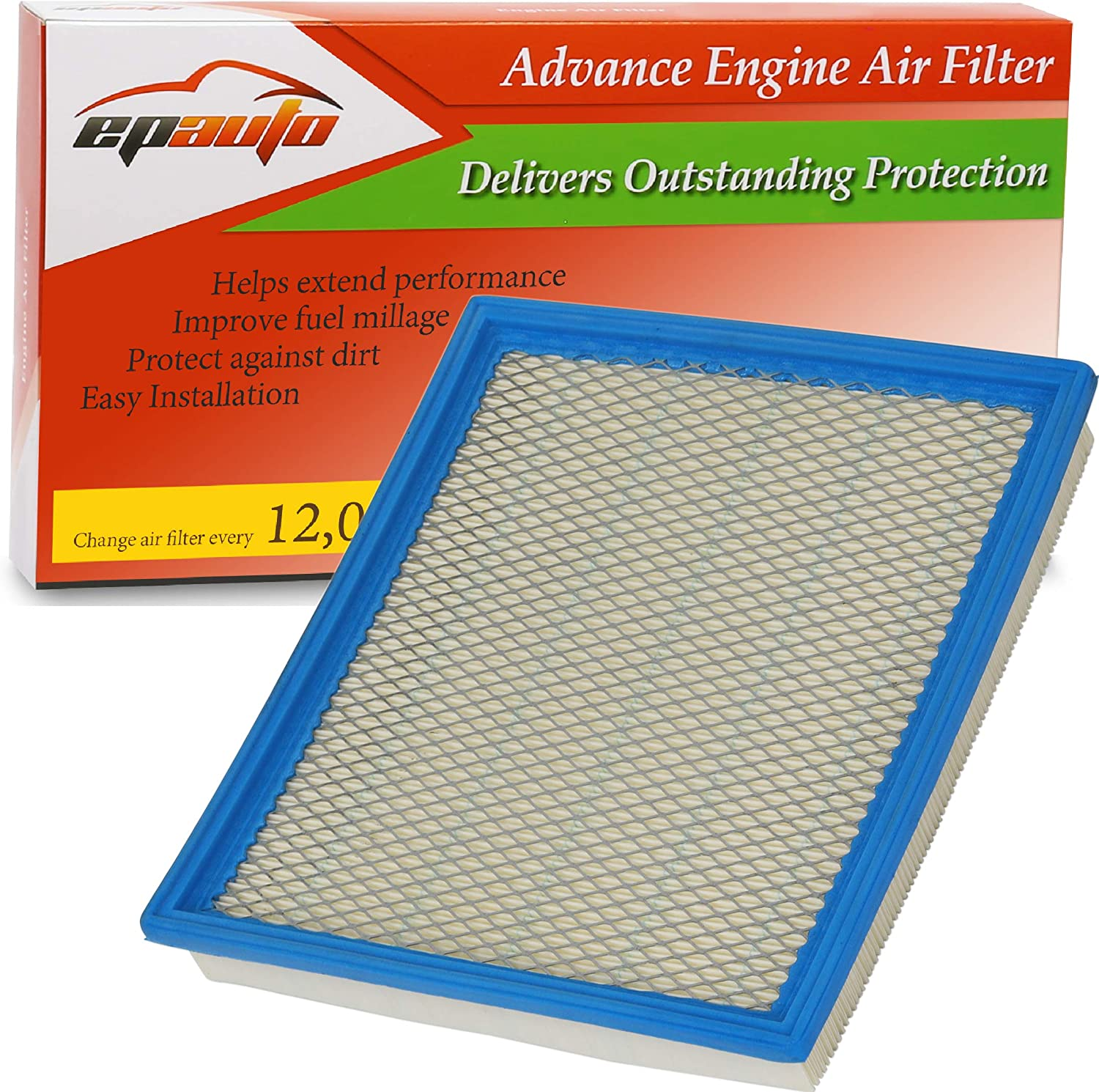 Frontier V6 CA7440 2012-2019 EPAuto GP440 NV1500 Armada 2005-2015 2004-2010 2005-2019 Replacement for Infiniti//Nissan//Suzuki//Jeep Extra Guard Panel Air Filter for QX56