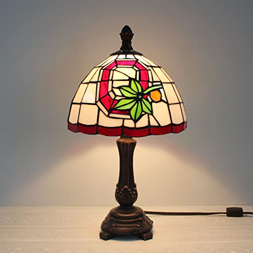 9-inch NCAA Ohio State Buckeyes Stained Glass Table Lamp