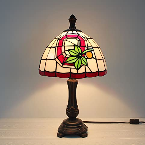 9 inch ncaa ohio state buckeyes stained glass table lamp amazon 9 inch ncaa ohio state buckeyes stained glass table lamp aloadofball Gallery