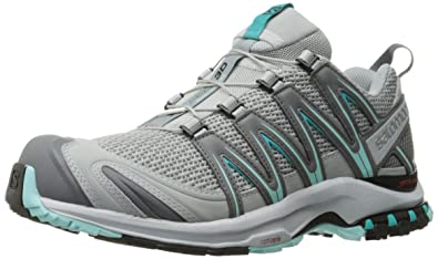 XA Pro 3D W, Zapatillas de Trail Running para Mujer, Gris (Quarry/Pearl Blue/Aruba Blue Quarry/Pearl Blue/Aruba Blue), 36 EU Salomon