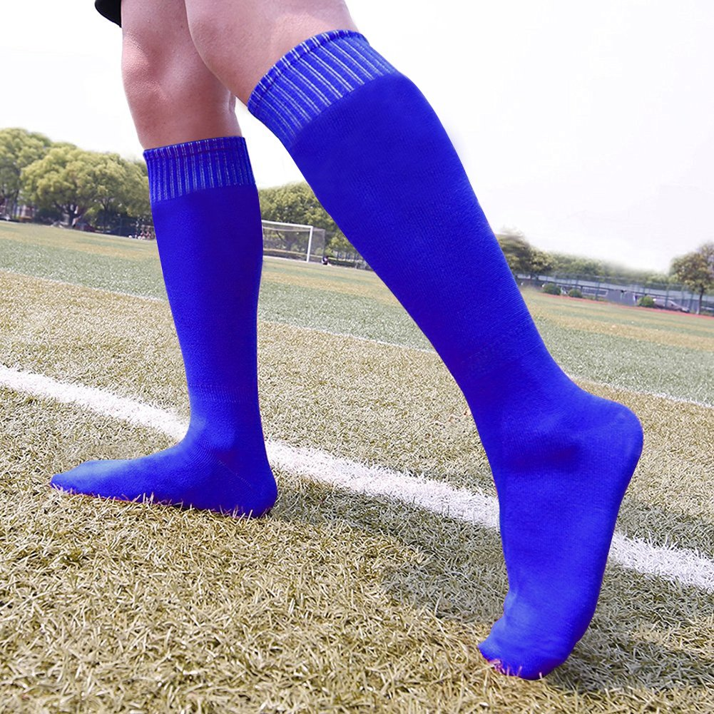 HAPYCEO Unisex Long Tube Solid Team Sports Football Baseball Athletic Over Calf Socks Soccer Socks