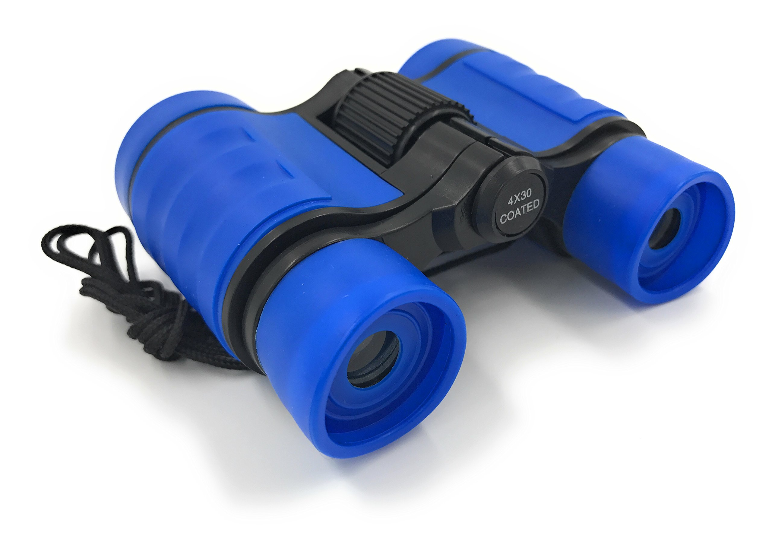 Real Binoculars for Kids, Blue Kids Binoculars Adjustable with carry bag and lens cloth