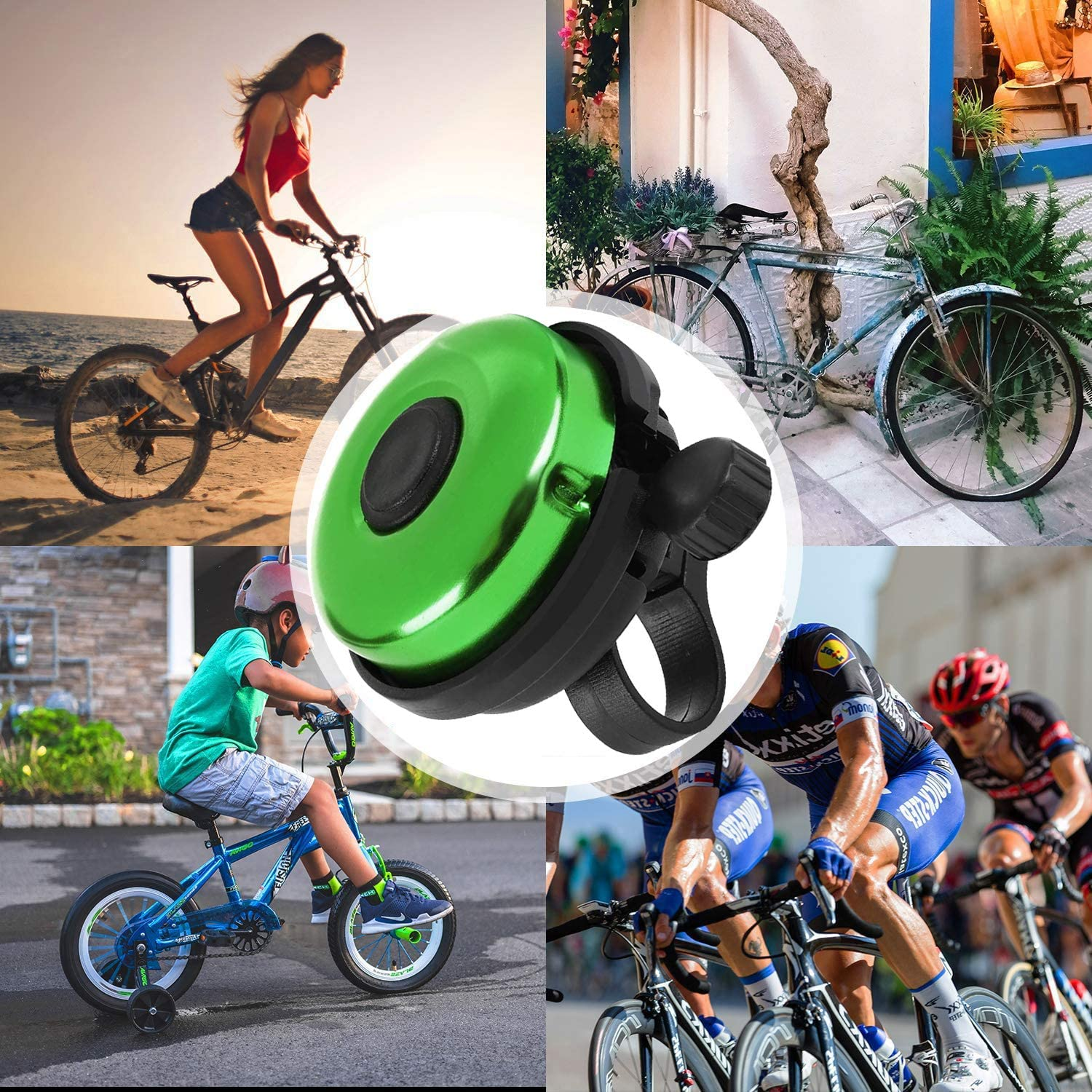 Bicycle Bells with Loud and Clear Sound for Adults and Children Classic Bicycle Bells Musment Bicycle Bells Aluminum Alloy Bicycle Bells
