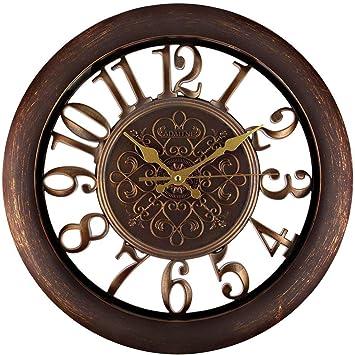 YYLL Vintage Relojes de Pared Silencioso Grandes Originales Cocina Decorativas 12 Pulgadas 30 cm: Amazon.es: Deportes y aire libre