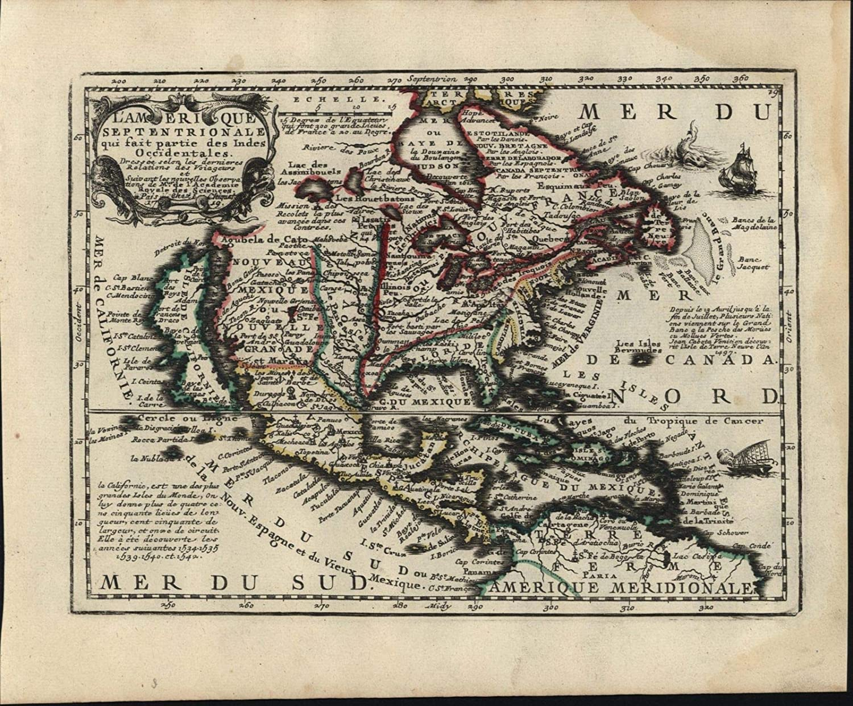 Amazon Com North America California As Island Sea Monster