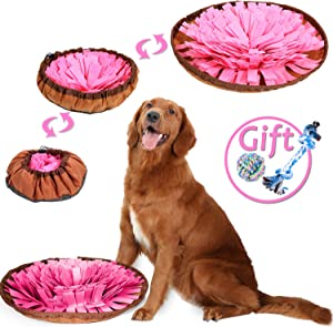 Shacoryze Snuffle Mat for Dogs, Dog Food Puzzle Game, Dog Brain Toy, Enrichment Toys for Boredom, Stimulation Smart Interactive Toys
