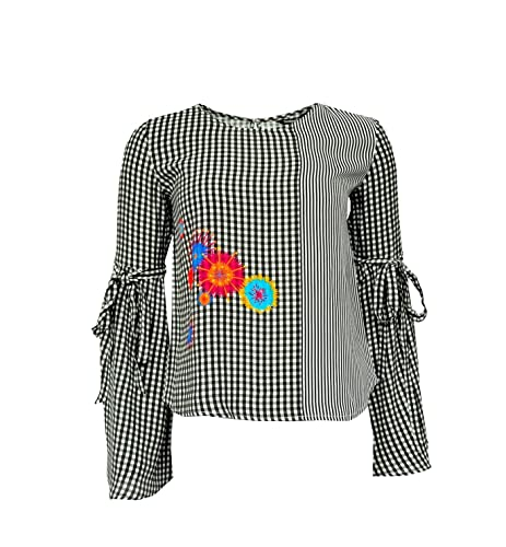 Desigual – Camisas – Cuello redondo – Manga Larga – para mujer
