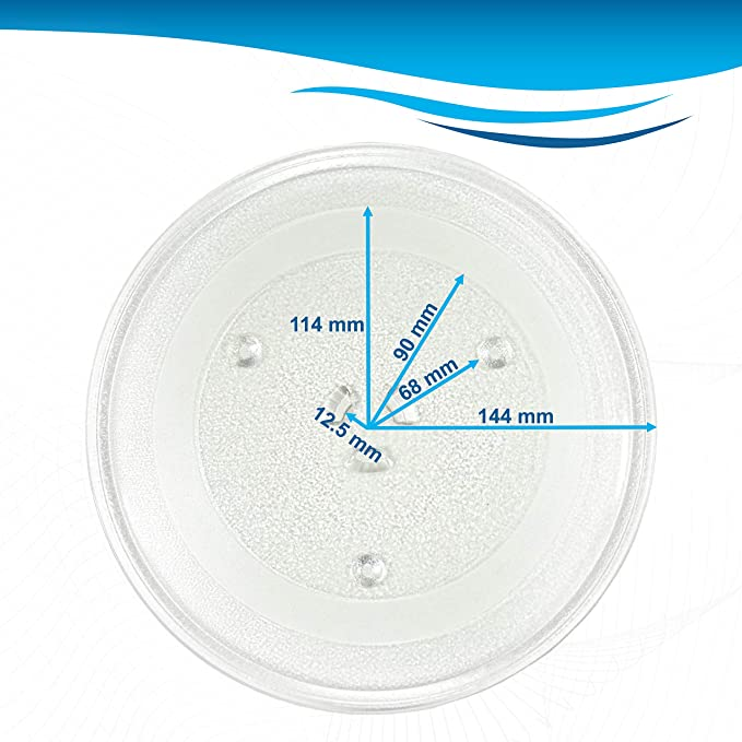HQRP 11-1//4 inch Glass Turntable Tray for Hotpoint REM25SJ01 REM25SJ02 REM25SJ03 RVM1335BC001 RVM1335WC001 Microwave Oven Cooking Plate HQRP Coaster