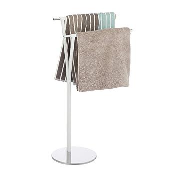Handtuchhalter chrom Handtuchständer freistehend zweiarmig ohne Bohren