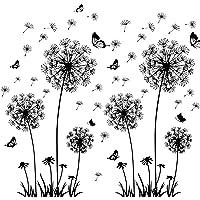 solawill Diente de León Pegatinas Pared, pegatinas adhesivas Pared vinilo decorativo Flores 3d mariposas Plantas murales…
