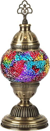 DEMMEX 2021 Turkish Moroccan Mosaic Table Desk Bedside Accent Lamp Lampshade