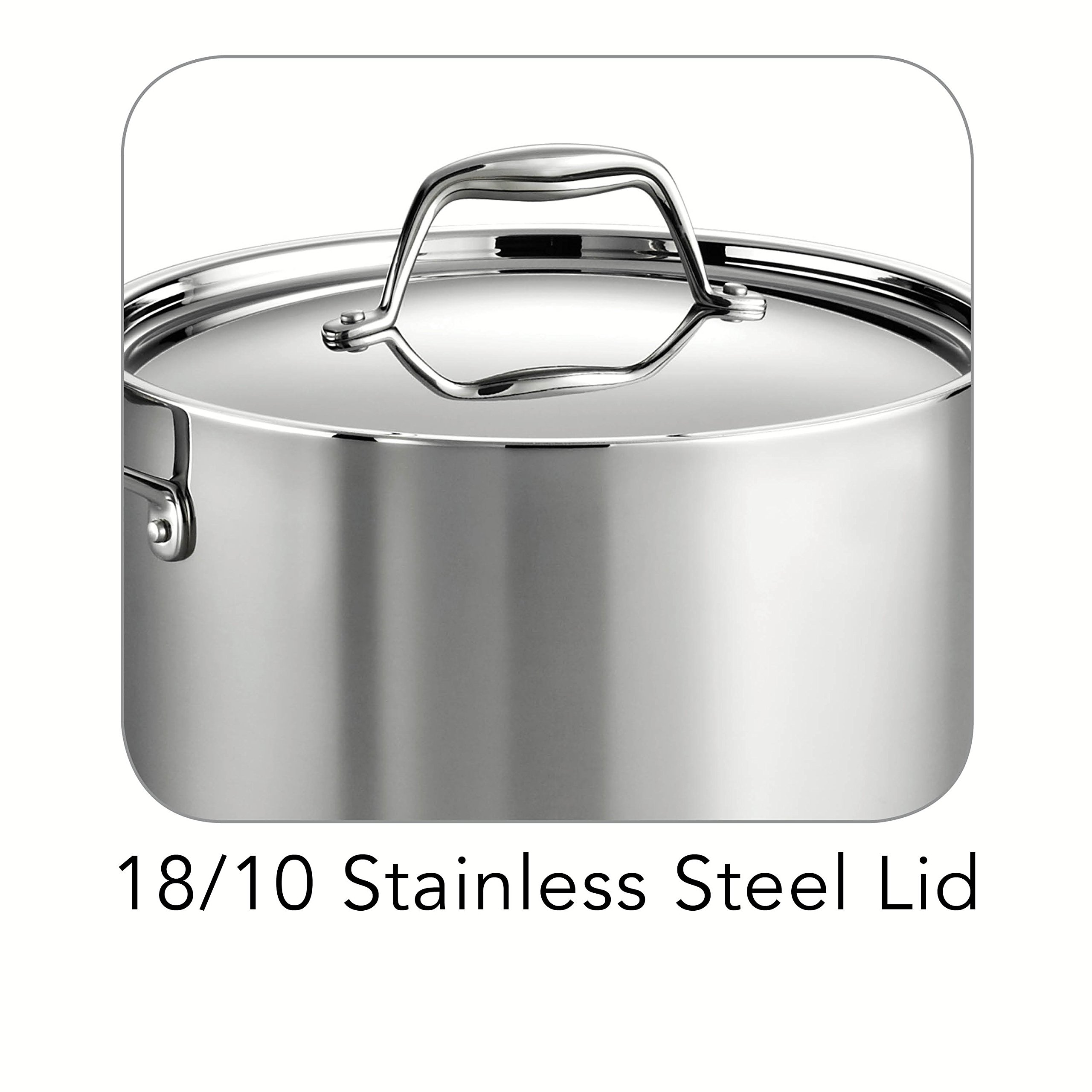 Tramontina 80116/041DS Gourmet 18/10 Stainless Steel Induction-Ready Tri-Ply Clad Covered Stock Pot, 8-Quart, NSF-Certified, Made in Brazil by Tramontina (Image #4)